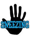 Handprint sneezing