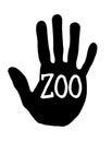 stock image of  Handprint zoo