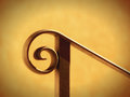 Handrail black and housewall in the sunlight Royalty Free Stock Image