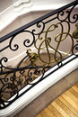 Handrail wrought iron in a french house Royalty Free Stock Images