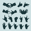 Hands authors illustration in vector Royalty Free Stock Photo