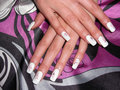 Hands with beautiful nails Royalty Free Stock Photos