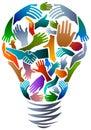 Hands in bulb