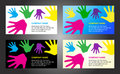 Hands business card template design Royalty Free Stock Photo