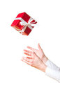 Hands catching gift Stock Image