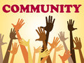 Hands community represents organized group and altogether meaning together Royalty Free Stock Images
