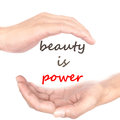 Hands concept - beauty is power Royalty Free Stock Photo