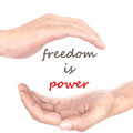 Hands concept - freedom is power Royalty Free Stock Photo