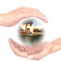Hands concept power of meditation for makes wisdom wisdom is Royalty Free Stock Photography