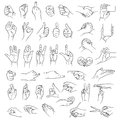 Hands in different interpretations vector illustration isolated on white background Royalty Free Stock Photos