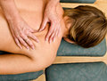Hands doing massage Stock Image