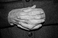 Hands of elderly person detail the an Royalty Free Stock Images