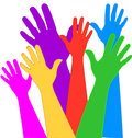Hands expressions in vivid colors Royalty Free Stock Image
