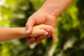 Hands family grandson and old grandmother nature outdoor Royalty Free Stock Photo