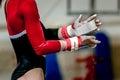 Hands girl gymnast Royalty Free Stock Photo