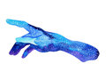Hands of god, watercolor painting hand drawn blue design