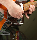 Hands of guitarist Royalty Free Stock Images