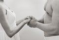 Hands of heterosexual couple be with me symbol togetherness Royalty Free Stock Images