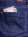Hands holding money. Bribe in businessmen's pocket. Dollars cur Royalty Free Stock Photo