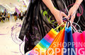Hands holding shopping bags Royalty Free Stock Photo