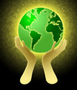 Hands Holding World Globe Illustration Royalty Free Stock Photo