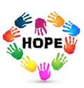 Hands hope logo Royalty Free Stock Photo