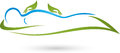 Hands and human, naturopath and physiotherapy logo
