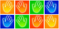 Hands icons Royalty Free Stock Image