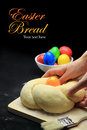 Hands kneading the easter bread dough Royalty Free Stock Photography