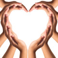 Hands make heart shape Royalty Free Stock Photo
