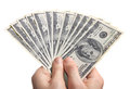 Hands with money Royalty Free Stock Photography