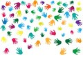 Hands, palms isolated on white vector background graphic design.