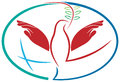 Hands peace bird Royalty Free Stock Photo