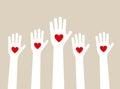 Hands raising love Royalty Free Stock Photo