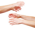 Hands reaching out in despair Royalty Free Stock Photography
