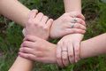 Hands strength unity and compactness Stock Image