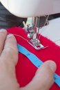 Hands of tailor sewing clothes Royalty Free Stock Photography