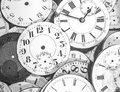 The Hands of Time: Vintage clock faces Royalty Free Stock Photo