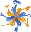 hands tools logo