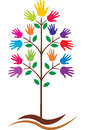 Hands tree vector illustration of Royalty Free Stock Image