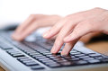 Hands typing on  keyboard Royalty Free Stock Photos