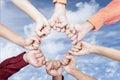 Hands of unity outdoor
