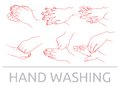 Hands washing vector illustration of the Royalty Free Stock Photos