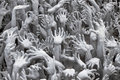Hands at Wat Rong Khun; Thailand Stock Image