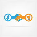 Handshake abstract sign vector design template bu business creative concept deal contract team cooperation symbol icon Royalty Free Stock Photography