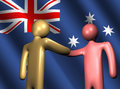 Handshake with Australian flag Royalty Free Stock Photos