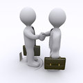Handshake is being sabotaged Royalty Free Stock Image
