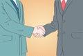 Handshake Business People Pop Art Hands Shake