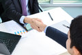 Handshake of businessmen in the office Royalty Free Stock Photo