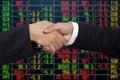 Handshake of businessmen - success, congratulation, greeting Royalty Free Stock Photo
